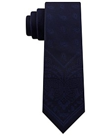 Men's Slim Tonal Paisley Panel Tie