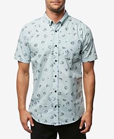 Men's Fanfare Modern-Fit Palm-Print Poplin Shirt