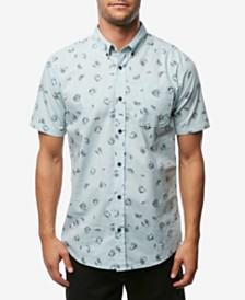 O'Neill Men's Fanfare Modern-Fit Palm-Print Poplin Shirt