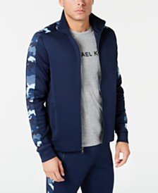 Michael Kors Men's Camo Stripe Track Jacket