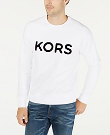 Men's Logo Fleece Crew Neck Sweatshirt, Created For Macys