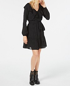 Ruffled V-Neck Dress, Regular & Petite Sizes