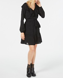 Michael Michael Kors Ruffled V-Neck Dress, Regular & Petite Sizes