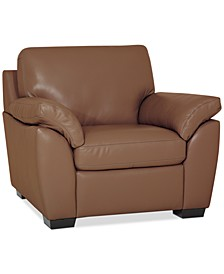 "Lothan 41"" Leather Chair, Created for Macy's"