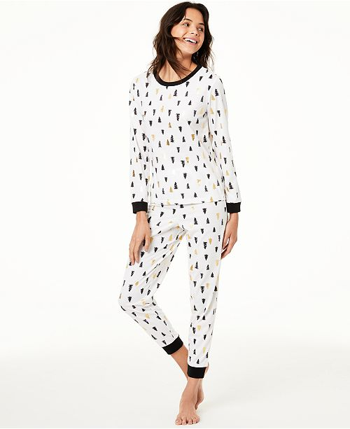 Family Pajamas Matching Kids Tree-Print Pajama Set, Created For Macy's