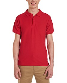 Young Men Short Sleeve Double Pique Polo