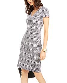 Plaid Short-Sleeve Dress, Regular & Petite