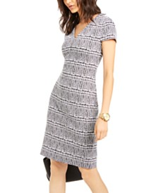 Michael Michael Kors Plaid Short-Sleeve Dress
