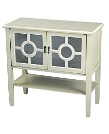 Heather Ann Hampton 2-Door Console Cabinet with Shelf