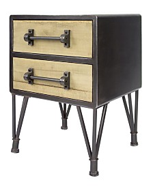 Heather Ann Soho Nightstand with 2 Drawers
