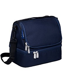 Whale Blue Two Compartment Lunch Bag