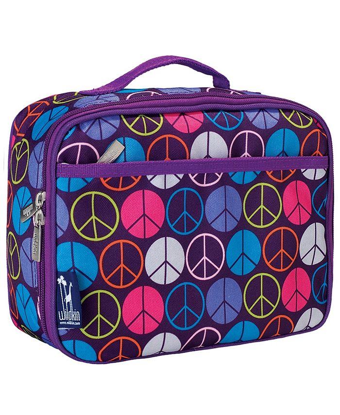 Wildkin - Peace Signs Purple Lunch Box