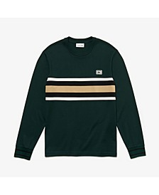 Bold Stripe Colorblocked Long Sleeve Tee Shirt