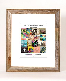"Rustic Reclaimed Barnwood 20"" x 24"" Picture Photo Frame"