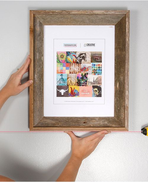 "Creative Gallery Rustic Reclaimed Barnwood 11"" x 14"" Picture Frame Plus A Free Laser Level"