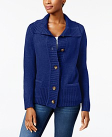 Button-Front Shawl-Collar Cardigan, Created for Macy's