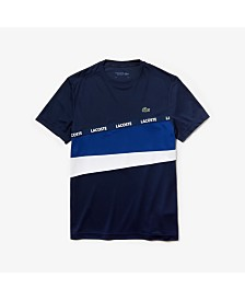 Lacoste Performance Colorblocked Crew Neck Tee Shirt