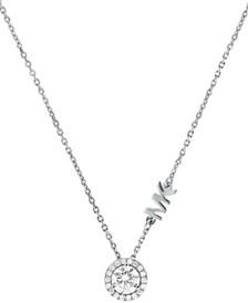Michael Kors Sterling Silver Cubic Zirconia Pendant Necklace