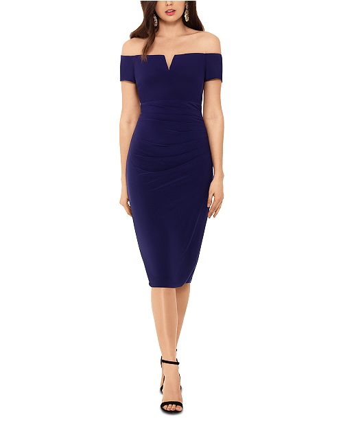 XSCAPE Off-The-Shoulder Dress