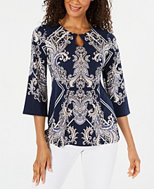 Stud-Trim Printed Top, Created for Macy's
