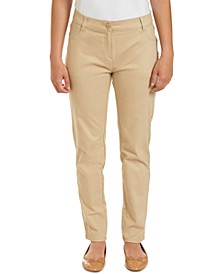 Juniors Sateen Skinny Pant with Adjustable Waistband