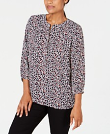 JM Collection Pleated-Back Blouse, Created for Macys