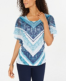 Chevron-Print Studded Top, Created for Macy's