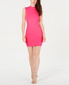 GUESS Logo-Graphic Bodycon Dress