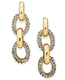 Gold-Tone & Pavé Chain Link Linear Drop Earrings, Created for Macy's