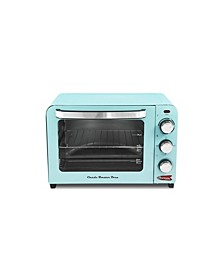 by Elite 6 Slice/26L Retro Toaster Oven Blue