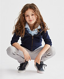 Little Girls Hoodie, Polo Shirt & Leggings