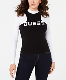 GUESS Colorblocked Logo-Graphic Top