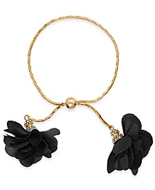 INC Imitation Pearl & Fabric Flower Bolo Bracelet, Created for Macy's