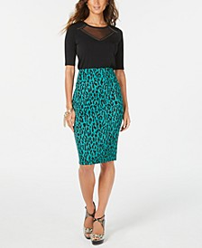 Printed Pencil Scuba Skirt, Created for Macy's