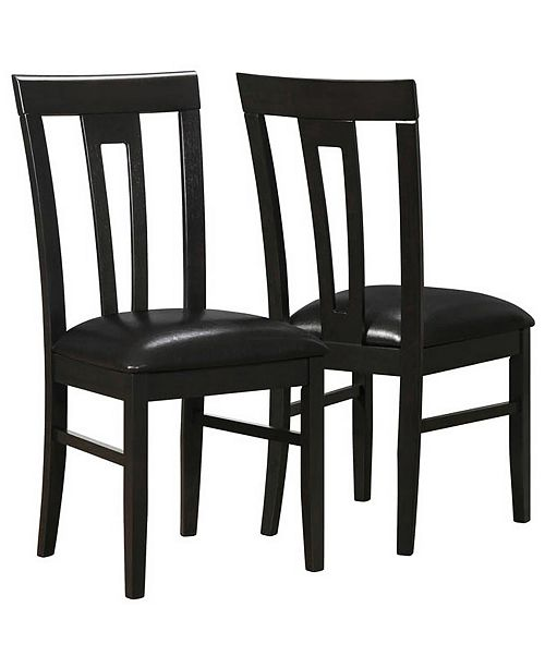 Monarch Specialties 2 Piece Leather Look Dining Chair Set