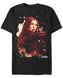 Men's Avengers Infinity War Painted Splatter The Scarlet Witch Short Sleeve T-Shirt