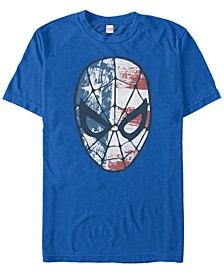 Men's Comic Collection Patriotic Spider-Man Short Sleeve T-Shirt