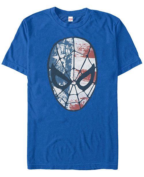 Marvel Men's Comic Collection Patriotic Spider-Man Short Sleeve T-Shirt