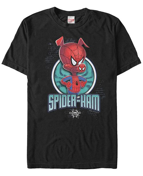 Marvel Men's Spider-Man Into The Spiderverse I Am Spider-Ham Short Sleeve T-Shirt