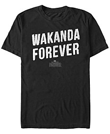 Marvel Men's Black Panther Distressed Painted Wakanda Forever Short Sleeve T-Shirt