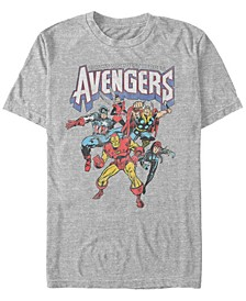 Men's Comic Collection Retro Earths Mightiest Heroes Short Sleeve T-Shirt