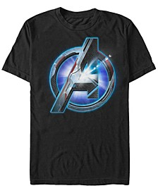 Men's Avengers Glowing Avengers Logo Short Sleeve T-Shirt