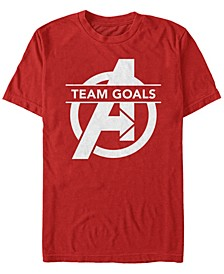 Men's Avengers Endgame Team Goals Logo Short Sleeve T-Shirt