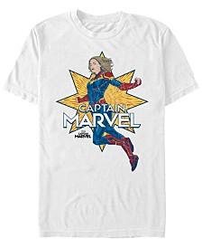 Marvel Men's Captain Marvel Star Power Short Sleeve T-Shirt