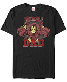 Marvel Men's Comic Collection Iron Man Invincible Dad Short Sleeve T-Shirt