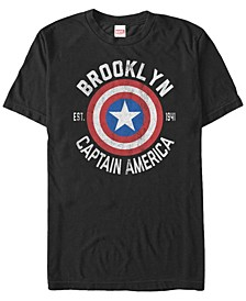 Men's Comic Collection Captain America Shield Logo Short Sleeve T-Shirt