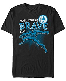 Marvel Men's Comic Collections Brave Like The Black Panther Short Sleeve T-Shirt