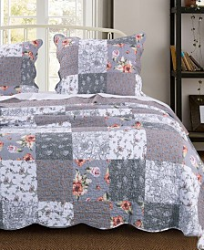 Greenland Home Fashions Giulia Quilt Set, 3-Piece Full/Queen