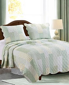Greenland Home Fashions Juniper Quilt Set, 3-Piece Full/Queen