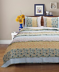 Ditsy Ruffle Quilt Set, 3-Piece King